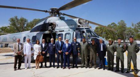 Τελετή για τη δωρεά εξοπλισμού τριών SuperPumaτης Πολεμικής Αεροπορίας
