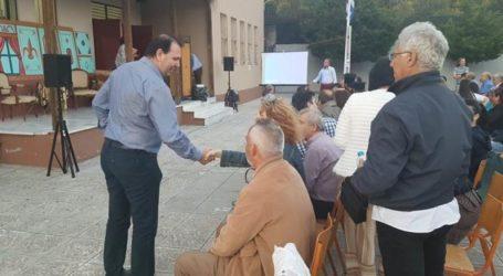 Επίσκεψη Γ. Καραβάνα στο δημόσιο Γυμνάσιο Βερδικούσιας