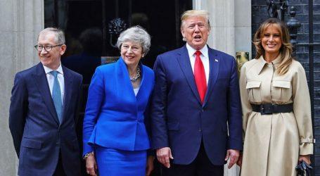 Εν μέσω διαδηλώσεων η επίσκεψη Τραμπ στη Βρετανία