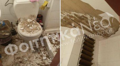 Έπεσε το ταβάνι την ώρα που φοιτήτρια έκανε μπάνιο στη φοιτητική εστία