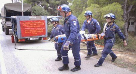 Άσκηση αντιμετώπισης καταστροφών από την Κινητή Ομάδα Αντιμετώπισης Καταστροφών