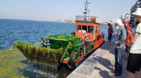 Δύο σκάφη καθαρίζουν από το πρωί τον Θερμαϊκό