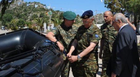 Ο Ελληνικός Στρατός παρέλαβε τέσσερα σκάφη τύπου Zodiac στη Χίο