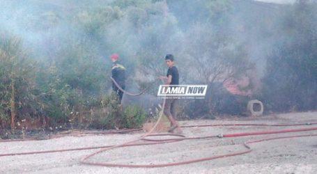 Συναγερμός για πυρκαγιά κοντά στο hot-spot Θερμοπυλών