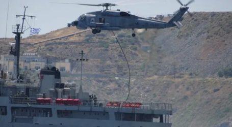 Επίδειξη μαχητικής ετοιμότητας και ικανότητας του Πολεμικού Ναυτικού στη Σύρο