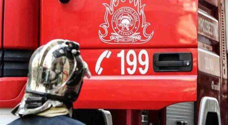 Φωτιά σε μάνδρα λεωφορείων στο Αιγάλεω