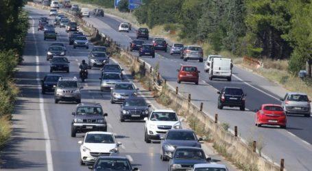 Ιδιαίτερα αυξημένη η κίνηση των οχημάτων στην ΕΟ Θεσσαλονίκης