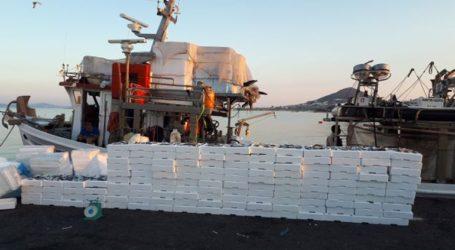 Το Λιμενικό κατέσχεσε σχεδόν 3 τόνους ψαριών που πιάστηκαν από παράνομο Γρι-Γρι στη Νάξο
