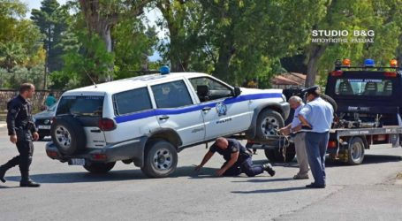Τροχαίο ατύχημα με περιπολικό της αστυνομίας στο Ναύπλιο