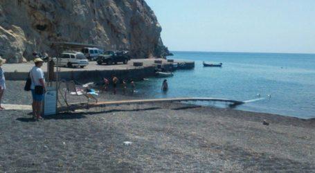 Tοποθετήθηκε ράμπα στην παραλία της Περίσσας για ΑμεΑ