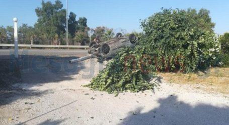 Τροχαίο στην Αθηνών-Σουνίου – Αναποδογύρισε όχημα