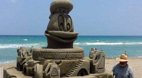 Εντυπωσιακά γλυπτά από άμμο στην Αμμουδάρα