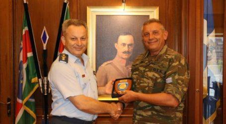 Τον Γενικό Περιφερειακό Αστυνομικό Διευθυντή Θεσσαλίας υποδέχτηκε ο Διοικητής της 1ης Στρατιάς