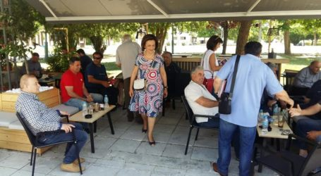 Κλιμάκιο του ΣΥΡΙΖΑ με βουλευτές σε Βελεστίνο, Ριζόμυλο και Στεφανοβίκειο [εικόνες]