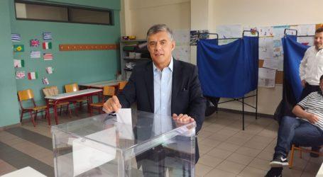 Το εκλογικό του δικαίωμα άσκησε ο Κώστας Αγοραστός