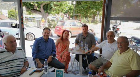 Σακκόπουλος: «Κλειδί» για την ανάπτυξη της Σκοπέλου η βελτίωση της καθημερινότητας των πολιτών