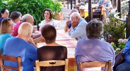 Αγκάλιασαν τη Μαρίνα Χρυσοβελώνη οι πολίτες στο Νότιο Πήλιο