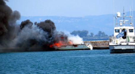 Βόλος: Δείτε νέες φωτογραφίες από τη φωτιά στο σκάφος, την ώρα του συμβάντος