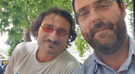 Με τον Βασίλη Χαραλαμπόπουλο στο Πήλιο