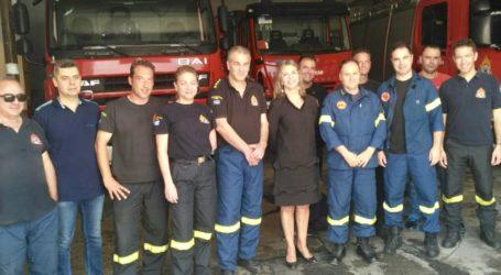 Στον Πυροσβεστικό σταθμό της Β' ΒΙΠΕ Βόλου η Ζέττα Μακρή