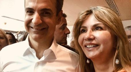 Με τον Κ. Μητσοτάκη η Ζέττα στην παρουσίαση του προγράμματος της ΝΔ