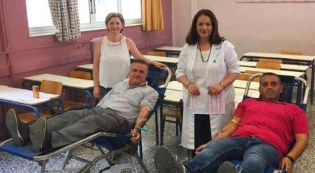 ΕΛΜΕ: Έδωσαν το …αίμα τους οι εκπαιδευτικοί στο 1ο Γενικό Λύκειο Λάρισας
