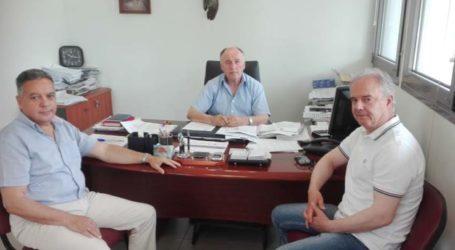 Επίσκεψη Γ. Μανώλη στη Διεύθυνση Αγροτικής Οικονομίας και Κτηνιατρικής ΠΕ Λάρισας