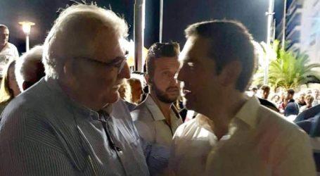Συνάντηση Νίκου Παπαδόπουλου με τον Πρωθυπουργό Αλέξη Τσίπρα στον Βόλο