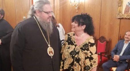 Το Επισκοπείο και τον Ιερώνυμο για ευχές επισκέφθηκε η Άννα Βαγενά
