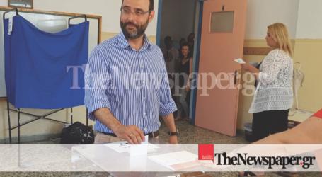 Άσκησε το εκλογικό του δικαίωμα ο Κωνσταντίνος Μαραβέγιας [εικόνες]