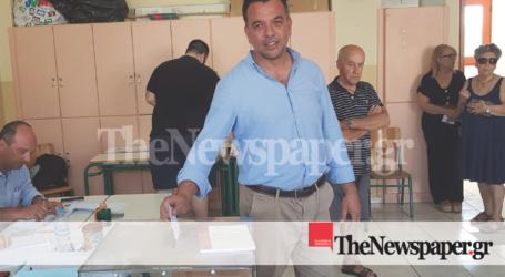 Αισιόδοξος για έδρα στη Μαγνησία, ψήφισε ο Τρύφωνας Πλαστάρας [εικόνες]