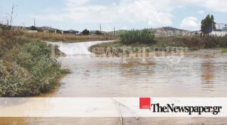 Βόλος: Κλειστός ο δρόμος για «Άσπρες Πεταλούδες» λόγω πλημμύρας