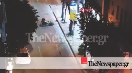 ΤΩΡΑ: Έχασε τον έλεγχο της μηχανής στην Κ. Καρτάλη και κατέληξαν στο οδόστρωμα