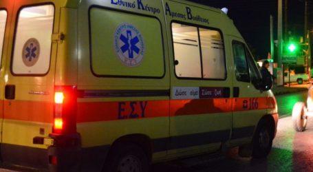 Βόλος: Μηχανάκι εξετράπη της πορείας του στον Σωρό – Στο Νοσοκομείο ο οδηγός