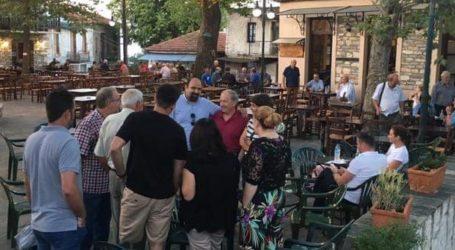 Χρ. Τριαντόπουλος: Επίσκεψη σε Κεραμίδι, Καμάρι, Κανάλια και Στεφανοβίκειο