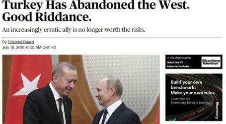 «Η Τουρκία έχει εγκαταλείψει τη Δύση. Στo καλό»