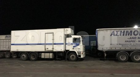 Εγκλωβισμένα φορτηγά στο λιμάνι της Ραφήνας από έλλειψη δρομολογίων