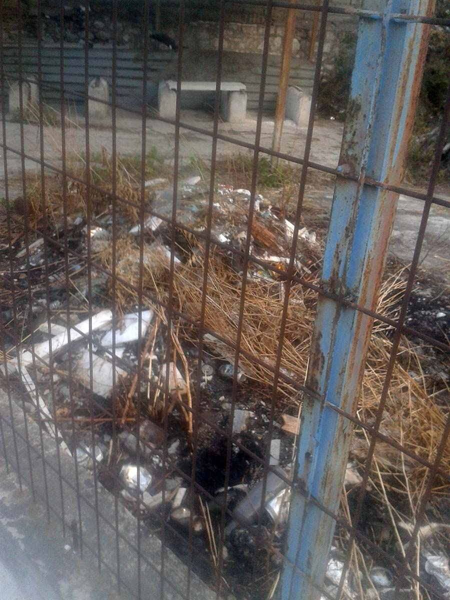 Εικόνες εγκατάλειψης πέριξ του Στρατιωτικού Νεκροταφείου στη Λάρισα - Απότιστα και τα δέντρα καταγγέλλει πολίτης