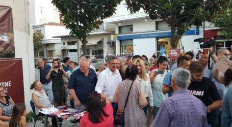 Ένταση στην επίσκεψη της Φώφης Γεννηματά στο εκλογικό περίπτερο του ΣΥΡΙΖΑ στη Ν.Ιωνία Βόλου [βίντεο]