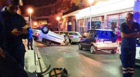 Τρελή πορεία IX στα Χανιά- Έπεσε πάνω σε σταθμευμένα οχήματα