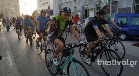 Ποδηλατοδρομία στο κέντρο της Θεσσαλονίκης για τους δύο νεκρούς ποδηλάτες στην Πτολεμαΐδα