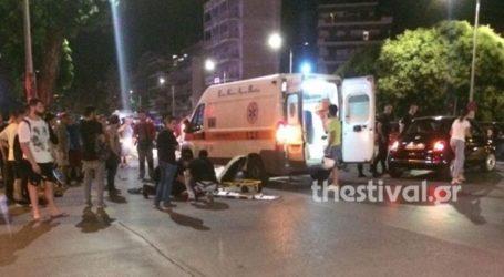 Τροχαίο με τραυματία διανομέα φαγητού στη Θεσσαλονίκη