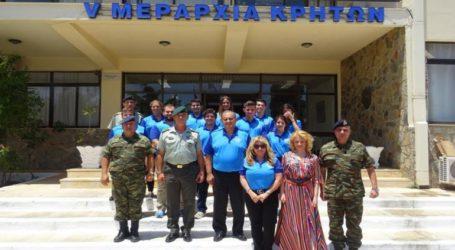 Σπουδαστές του Ελληνοαμερικανικού Ινστιτούτου στο Στρατόπεδο «ΠΑΠΑΓΟΥ»