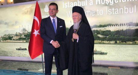 Συνάντηση του Εκρέμ Ιμάμογλου με τον Πατριάρχη Βαρθολομαίο