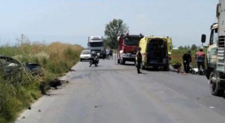 Τροχαίο δυστύχημα με έναν νεκρό και δύο τραυματίες στη Βέροια