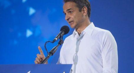 Η προεκλογική ομιλία του Κ. Μητσοτάκη στο Θησείο