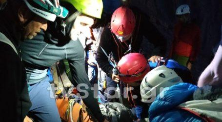 Ολονύχτια επιχείρηση της ΕΜΑΚ για διάσωση ορειβάτη