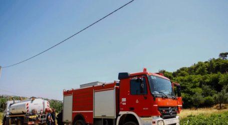 Κατεσβέσθη η φωτιά σε εργοστάσιο χαρτοποιίας στα Εξαμίλια Κορινθίας