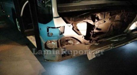 Λαμία: Λεωφορείο τράκαρε με αγριογούρουνο