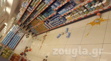 Ζημιές σε κατάστημα σούπερ μάρκετ στο Ίλιον